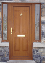 Brown Front Door Full Panel