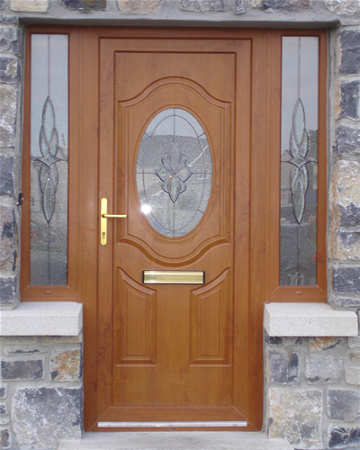 Front doors creative ideas pictures of front doors for Brown upvc door
