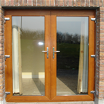 Brown French Door